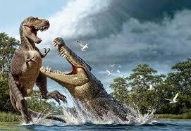 ワニと恐竜