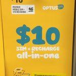1日$2でデータ500MBと通話&SMS無料のOptus(オプタス)がお得!音楽も無料