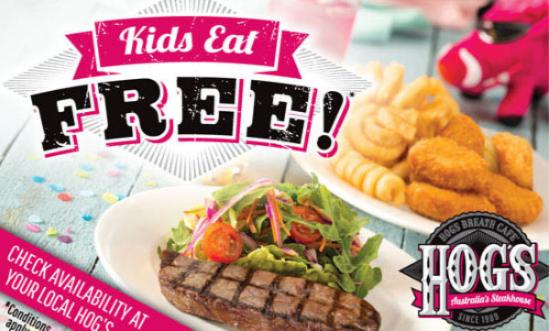 ホッグスブレスカフェのKIDS EAT FREE