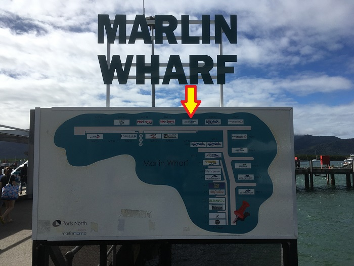 ケアンズ乗船桟橋の地図