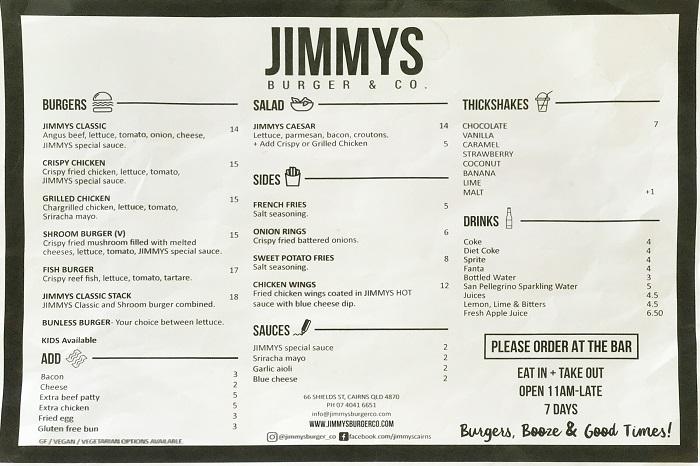 JIMMYSメニューのスキャン