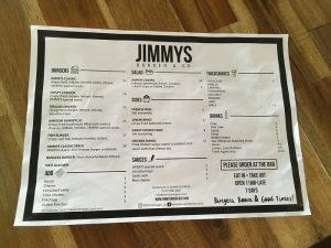 JIMMYS(ジミーズ)メニュー